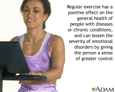 Benefit of regular exercise
